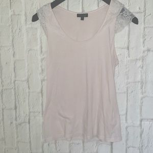 Top Shop Lace Detail Tank Top Baby Pink